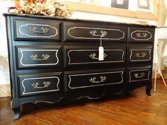 shabby chic black and white furniture pinterest shabby black rh pinterest com black shabby chic bedside cabinets black shabby chic kitchen cabinets