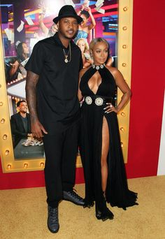 Gorgeous & Handsome. Carmelo & Lala. Ballerific Fashion On The Scene: Think Like A Man Too Hollywood Premiere - Baller Alert.com