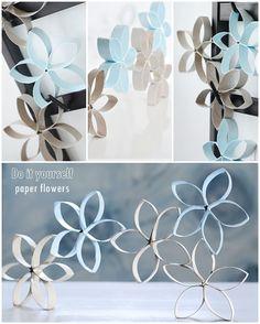 s i n n e n r a u s c h: [Nachmachtipp] Papier Blumen
