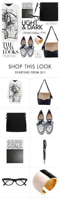 """The new looks!"" by kreateurs ❤ liked on Polyvore featuring Visconti, Cutler and Gross, Sweater, MINISKIRT, derbyshoes and kreauters"