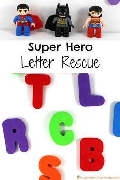 Hero Letter Rescue Super Hero Letter Rescue - Help the super heroes rescue the letters!Super Hero Letter Rescue - Help the super heroes rescue the letters! Super Hero Activities, Alphabet Activities, Kindergarten Activities, Preschool Activities, Super Hero Crafts, Super Hero Games, Educational Activities, Superhero Preschool, Superhero Letters