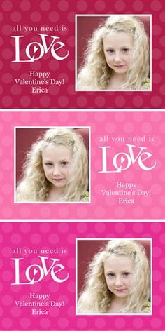 Cut Apart Photo Valentines for the kids to pass out at school! 40 for $7.99