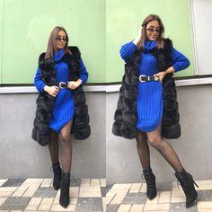 Kožušinka v čiernej farbe a v strednej dĺžke. #springstyle #springoutfits #womanoutfits Fur Coat, Jackets, Fashion, Down Jackets, Moda, Fur Coats, Jacket, Fasion, Trendy Fashion