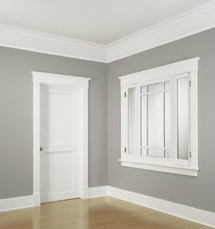 same trim as my doors - can use this style for crown molding