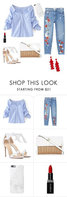 A fashion look from August 2017 featuring long blouse, relaxed jeans and alexandre birman shoes. Browse and shop related looks. Alexandre Birman, Mango, Shoe Bag, Polyvore, Stuff To Buy, Shopping, Collection, Design, Women