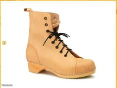 SWEDISH HASBEENS LACE UP LOW BOOTS
