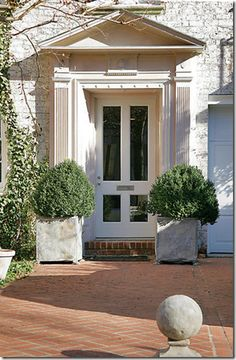Entrance to Designer, Frank Babb Randolph's Townhouse Front Door Entrance, Door Entryway, Front Entrances, Grand Entrance, Entry Foyer, Entry Doors, Front Porch, Doorway, Garage Doors