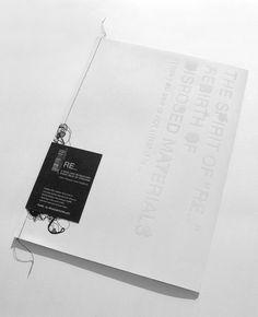 "The Spirit of ""RE"" - New Gentle Paper Sample Kit by Sunny Wong, via Behance К конверту, папке свой ярлык - круто! Typography Layout, Graphic Design Typography, Editorial Layout, Editorial Design, Web Design Mobile, Printing And Binding, Design Brochure, Buch Design, Publication Design"