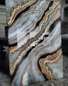 Resin Wall Art, Epoxy Resin Art, Diy Resin Art, Resin Artwork, Diy Resin Crafts, Diy Art, Diy Resin Projects, Acrylic Pouring Art, Marble Art