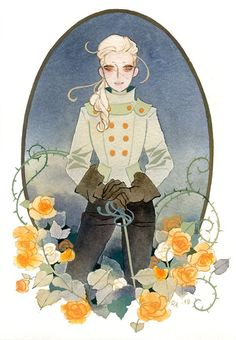 Little portrait of a fencing madam. 🌹⚔ Cold press paper, watercolors, colored inks and gouache. Illustrations, Illustration Art, Notebook Art, Artist Alley, Manga, Character Design Inspiration, Pretty Art, Gouache, Art Inspo