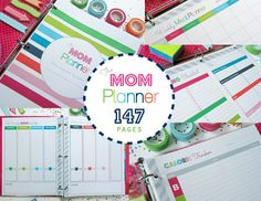 Clean Life and Home: The Mom Planner: Printable Home Management Binder! Wedding Planner Binder, Mom Planner, Binder Planner, Planner Ideas, Happy Planner, Family Planner, Budget Binder, 2018 Planner, Planner Layout