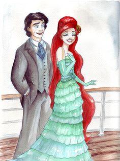 Designer fashion VIII (Ariel and her Prince Eric) by TaijaVigilia.deviantart.com on @DeviantArt