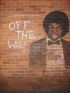 Off The Wall Arts graffiti caricature, london, uk 2011 | michael jackson - street
