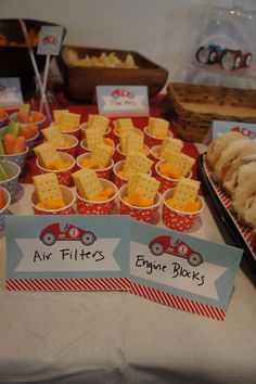 healthy snacks that are car race related - Google Search