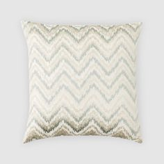 "Oake Ikat Wave Decorative Pillow, 18"" x 18"""