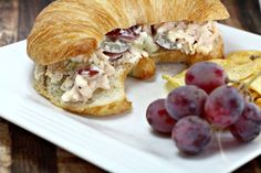 I love Napa Chicken Salad and this Panera copycat Chicken Salad Recipe with Grapes and Almonds hits the spot when I don't feel like driving 20 minutes for a