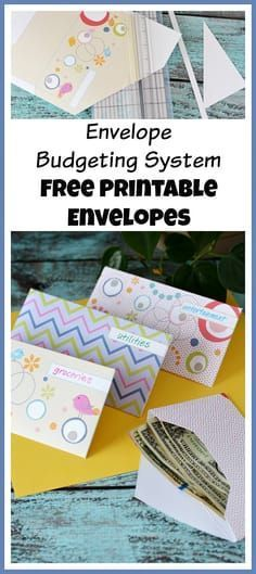 The envelope budgeting system is an easy and effective way to make a budget! And it's a lot more fun if you use these pretty free printable envelopes! Envelope Budget System, Cash Envelope System, Budget Envelopes, Money Envelopes, Printable Budget Sheets, Envelope Template Printable, Budgeting System, Budgeting 101, Making A Budget