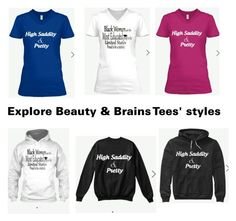 """Beauty & Brains Tees has styles."" by lusciouslysha on Polyvore"