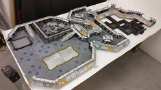 This set is huge!! Live now on Kickstarter. #LaserTerrain #modulapainted #avpthehuntbegins #spacehulk #w40k #infinitythegame