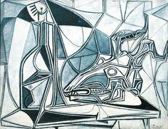 Crâne, Bouteille et Candle Pablo Picasso 1952 Tate Modern de chèvre - Londres peinture - huile sur toile Hauteur: 89 cm (35.04 in.), Largeur: 116 cm (45.67 in.)