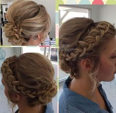 curly+braided+updo+for+short+hair