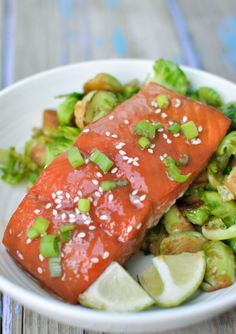 This simple, healthy, and delicious easy miso salmon recipe comes together super-fast and is bursting with flavor. Plus, it only has 5 ingredients and is gluten-free.