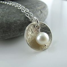 Cup of Pearl Necklace  Sterling by alisonkelleydesigns on Etsy, $48.00