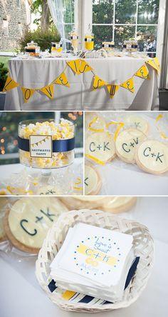 Navy and Yellow Wedding Colors: Kathleen Chris