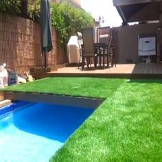 """Israel-based engineer Gil Klar wanted a pool in his backyard, but his wife wanted to keep the yard as a play area. As a compromise, in 2013 Klar built himself a """"hidden pool,"""" complete with a retra. Hidden Swimming Pools, Hidden Pool, Building A Swimming Pool, Diy Pool, Swimming Pools Backyard, Pool Landscaping, Pool Spa, Backyard Pool Designs, Small Backyard Pools"""