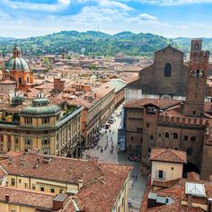 The old city of Bologna