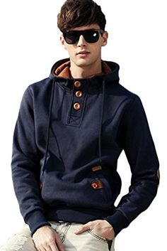 Minibee Men's Autumn Fashion Hoody with Pockets Navy Blue S Minibee http://www.amazon.com/dp/B015QP0VG6/ref=cm_sw_r_pi_dp_0Z0awb0SX403K