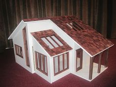Modern Mini Houses: Contemporary Ranch Dollhouses on ebay finished and...