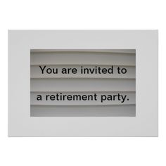 Find customizable Retirement invitations & announcements of all sizes. Pick your favorite invitation design from our amazing selection. Retirement Party Invitations, Retirement Parties, Retirement Announcement, You Are Invited, Invitation Design, Retirement, Invitations, Ideas, People