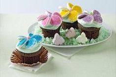 BAKER'S ONE BOWL Flower Garden Cupcakes