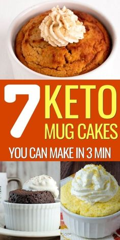Keto Chocolate Mug Cake - Deliciously Moist 1 Minute Keto Dessert Dessert Simple, Keto Dessert Easy, Low Carb Mug Cakes, Low Carb Desserts, Easy Desserts, Mug Recipes, Easy Cake Recipes, Dessert Recipes, Diet Recipes