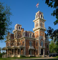 The Governors Mansion, Terrace Hill in Des Moines, IA  Built in 1866 Second Empire Architecture