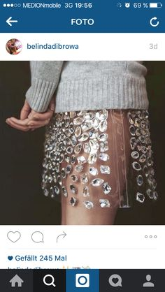 """""""Michael Kors gets up close and personal with his bejeweled PVC skirt"""" (pre-fall via Vogue Mode Chic, Mode Style, Pvc Skirt, Fashion Details, Fashion Design, Fashion Photo, High Fashion, Womens Fashion, Mode Inspiration"""
