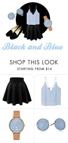 """""""Blue Feelings"""" by sosofo ❤ liked on Polyvore featuring MANGO, Skagen, Summer and contestentry"""