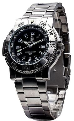 Smith & Wesson Aviator Tritium Stainless Steel Strap Watch