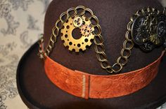 Men's Steampunk Hat: One Of a Kind, Ready to by OnceUponABustle, $160.00