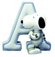 Alfabeto de Snoopy de plastilina.