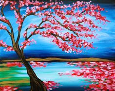 I am going to paint Zen Blossoms at Pinot's Palette - Manalapan to discover my inner artist!