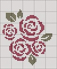 free cross stitch roses                                                                                                                                                                                 More