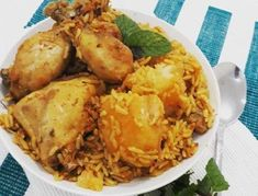 Chicken Akni by Jameela Sayed Potato Sticks, Rice Side Dishes, Clarified Butter Ghee, One Pot Chicken, South African Recipes, Learn To Cook, Side Dish Recipes, Chicken Recipes, Curries