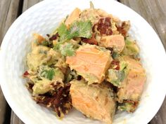Avocado & Sweet Potato salad from our blog...made with or without bacon.  Yum