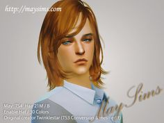 Mayims: Sims 4 Hair - May_TS4_Hair21M / B