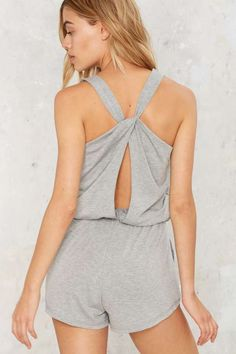 Jersey Girl Cutout Romper - Clothes