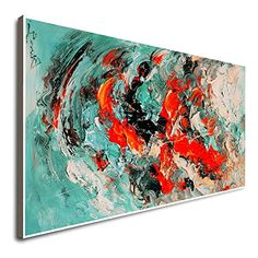 Amazon.com: Modern Hand Oil Painting Home Decor Large Oil Painting Artwork Framed Framed Art For Dining Room Oil Paintings On Canvas Large Abstract Painting On Canvas Paintings On Canvas: Handmade