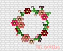 Couronne de fleurs Miyuki / The Camelia