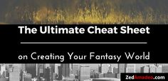 If you& writing spec-fic, creating your fantasy world can be as important as your characters. These resources will guide you through creating your world. Book Writing Tips, Writing Resources, Writing Help, Writing Skills, Writing Prompts, Writing Ideas, Writing Corner, Writing Guide, Editing Writing